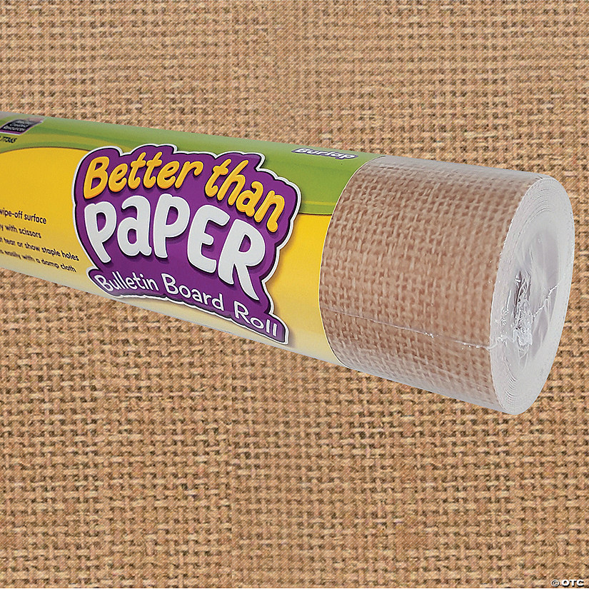 Better Than Paper<sup>&#174;</sup> Burlap Bulletin Board Roll Audio Thumbnail