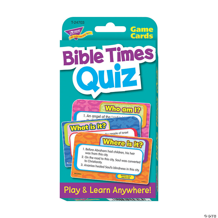 Bible Times Quiz Challenge Cards Audio Thumbnail
