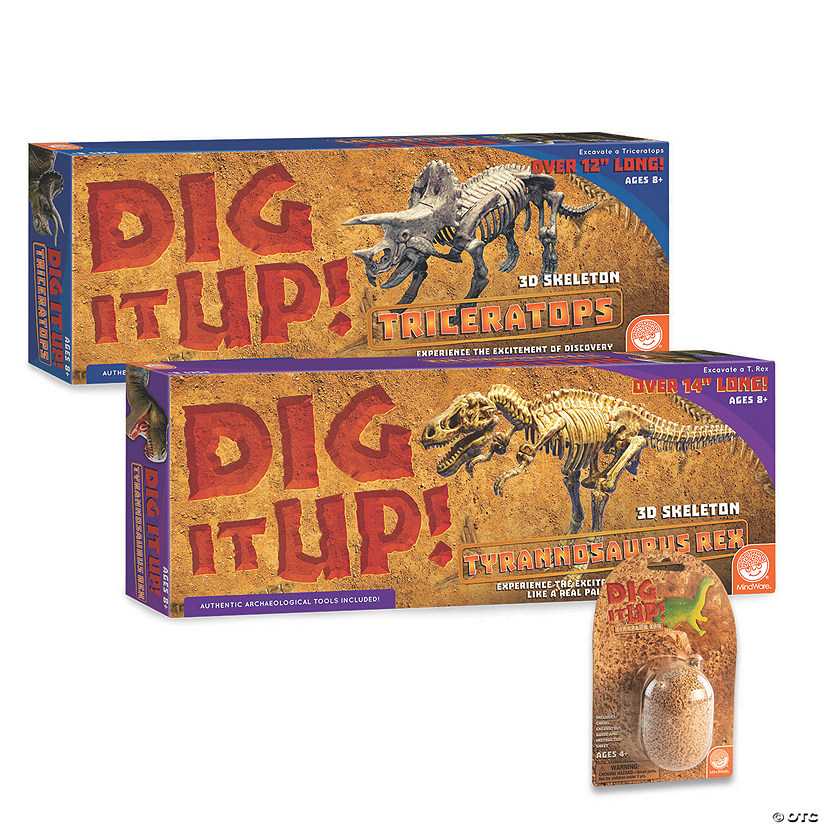 Big Dig Dino Models: Set of 2