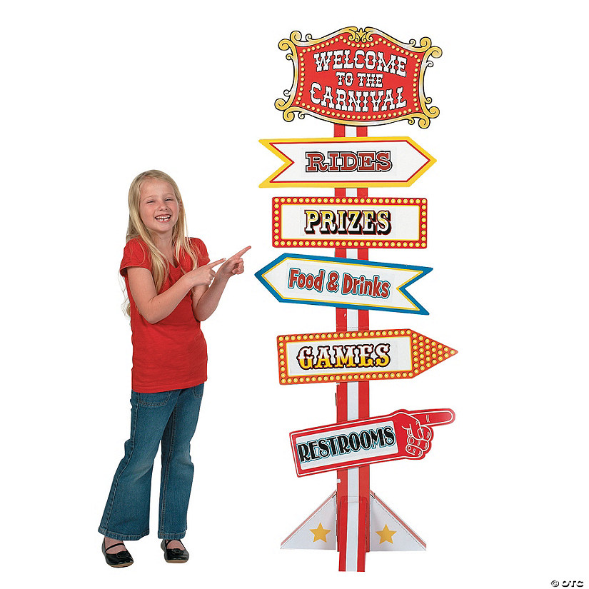 Big Top Directional Sign Cardboard Stand-Up Audio Thumbnail