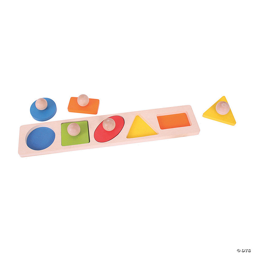 Bigjigs Toys Shape Matching Jigsaw Puzzle, 6 Pieces Audio Thumbnail