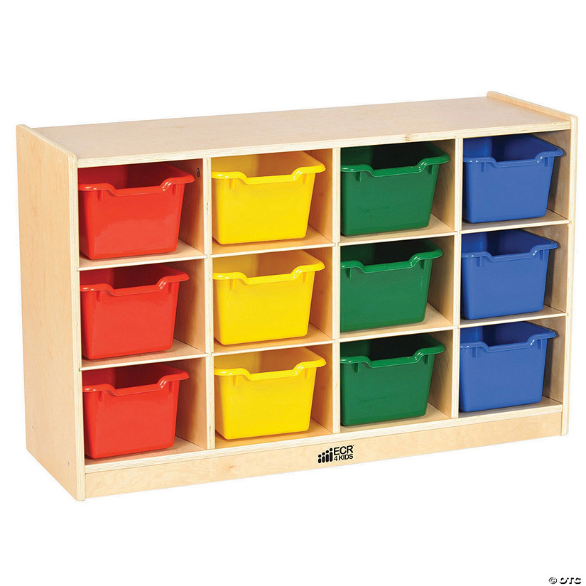 Birch 12 Cubby Tray Cabinet with  Assorted Bins Audio Thumbnail