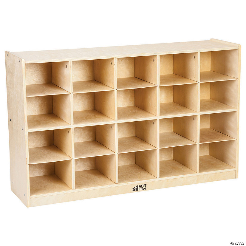 Birch Storage Cabinet with 20 Tray Cubbies Audio Thumbnail