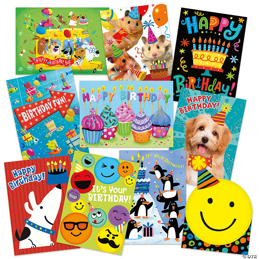 Birthday Fun 10 Card Assortment Pack Image Thumbnail
