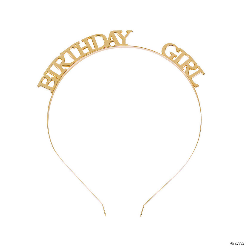 Birthday Girl Gold Headband Audio Thumbnail