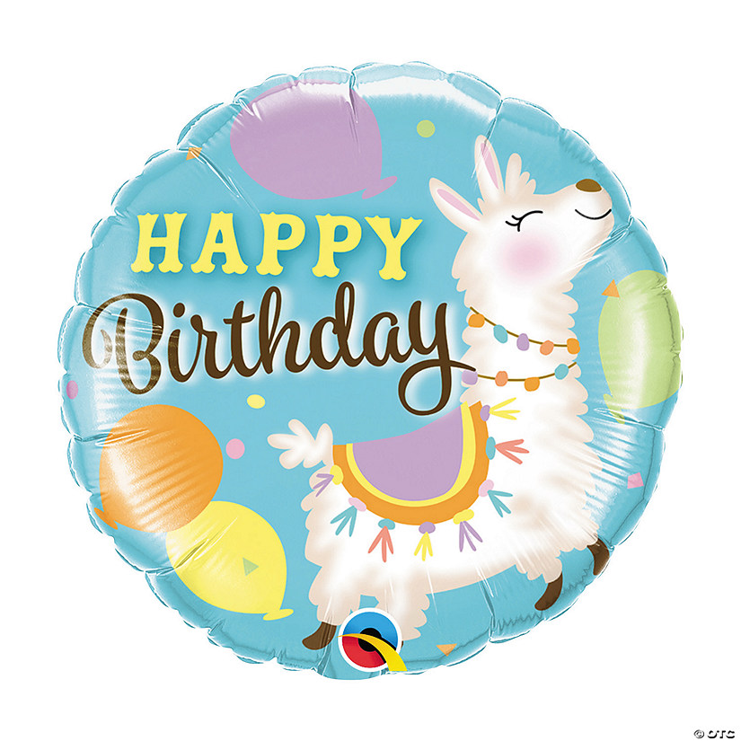 "Birthday Llama 18"" Mylar Balloon Audio Thumbnail"