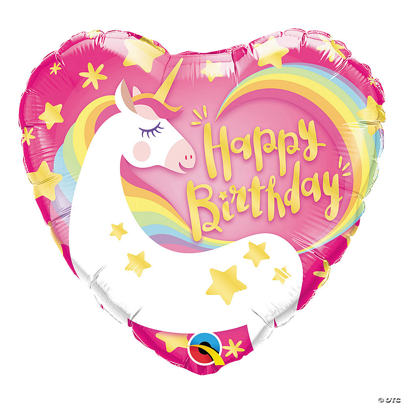 "Birthday Magical Unicorn 18"" Mylar Balloon Audio Thumbnail"