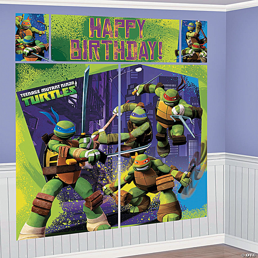 Birthday Teenage Mutant Ninja Turtles Backdrop
