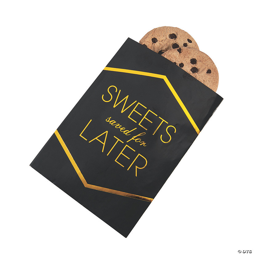 Black & Gold Foil Sweets Treat Bags Audio Thumbnail