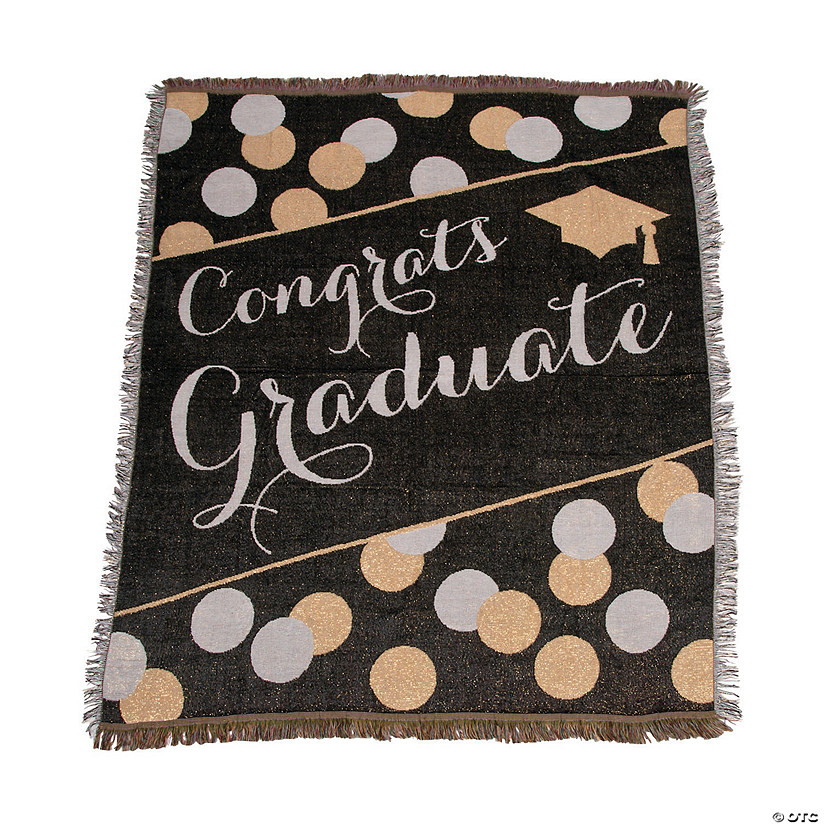 Black & Gold Graduate Throw Audio Thumbnail