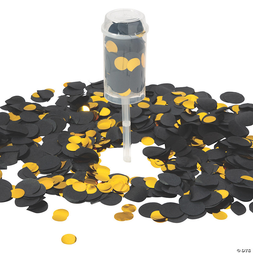 Black & Gold Push-Up Confetti Poppers Audio Thumbnail