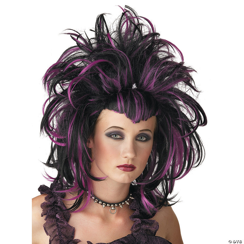 Black & Purple Evil Sorceress Wig
