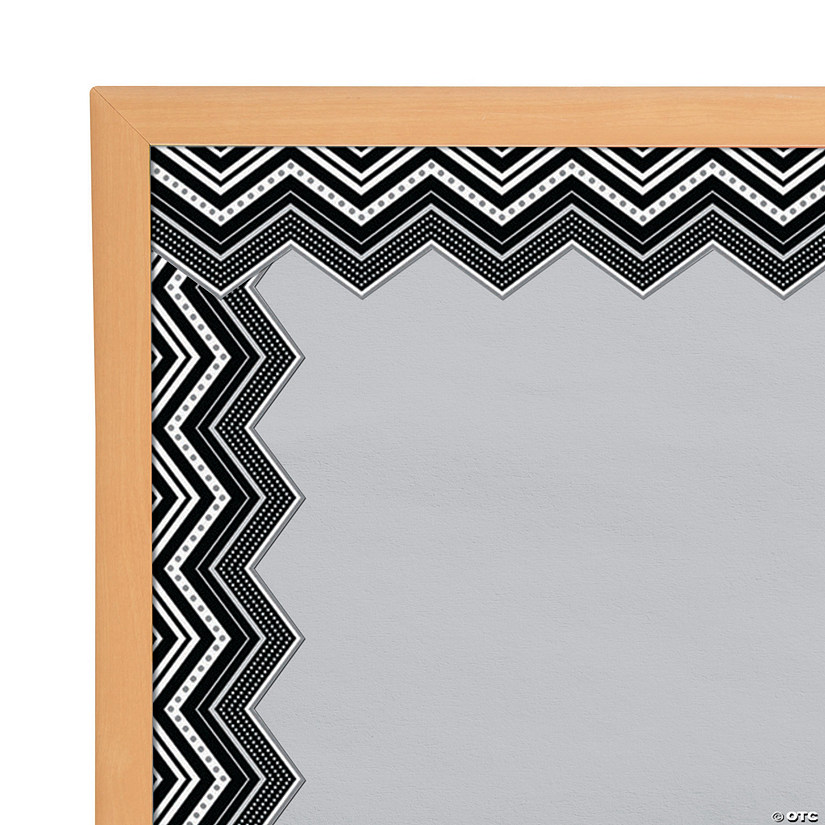 Black & White Chevron Bulletin Board Borders