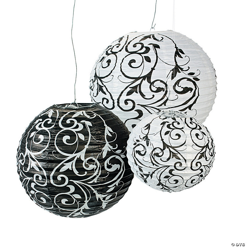 Black & White Hanging Paper Lanterns Audio Thumbnail