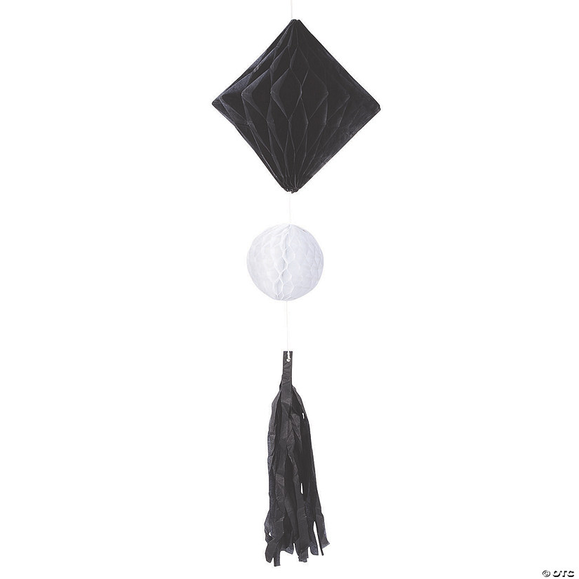 Black & White Honeycomb Tissue Diamonds with Tassels Audio Thumbnail