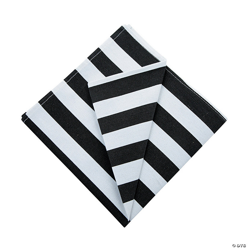 Black & White Striped Cloth Napkins