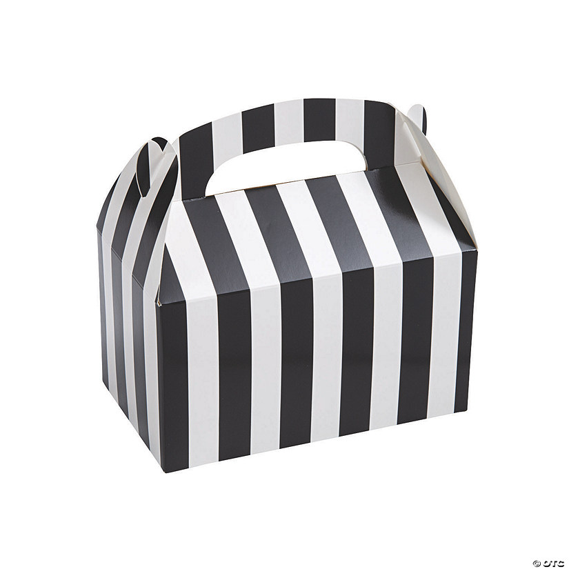 Black & White Striped Favor Boxes Audio Thumbnail