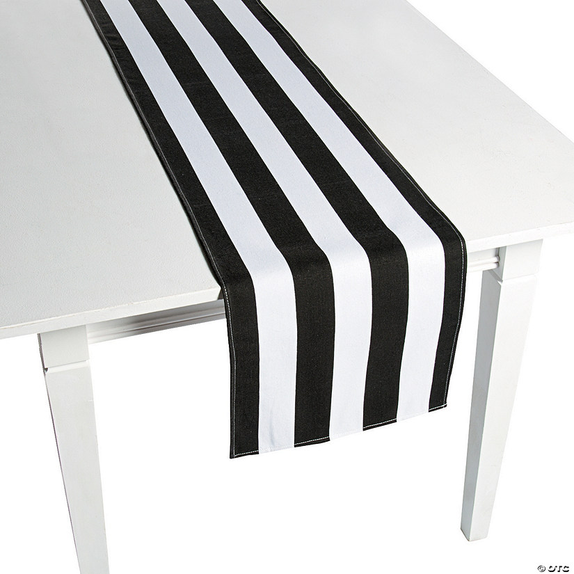 Black & White Striped Table Runners Image Thumbnail