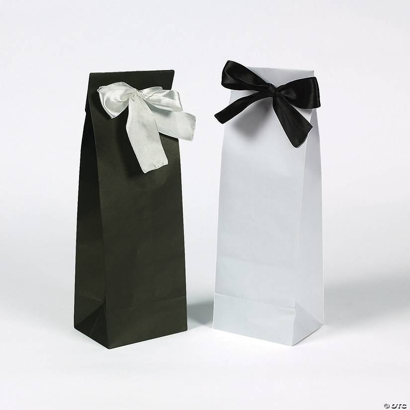 Black White Wine Bags