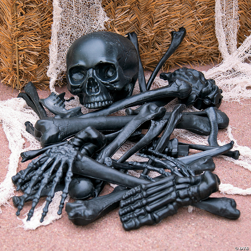 Black Bag of Bones Halloween Decoration Image Thumbnail