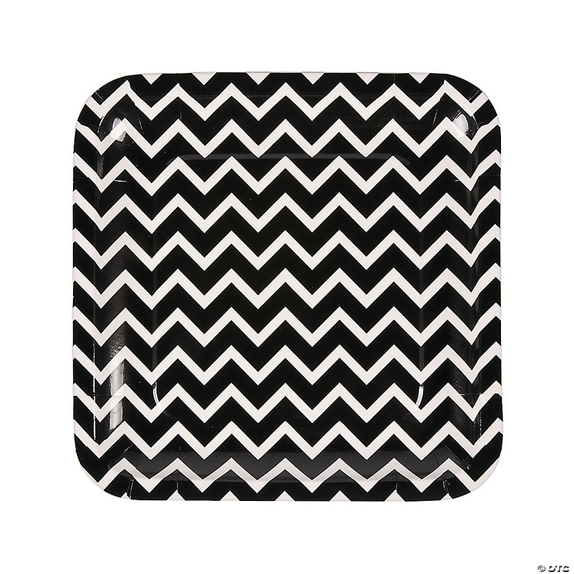 Black Chevron Paper Dinner Plates Audio Thumbnail