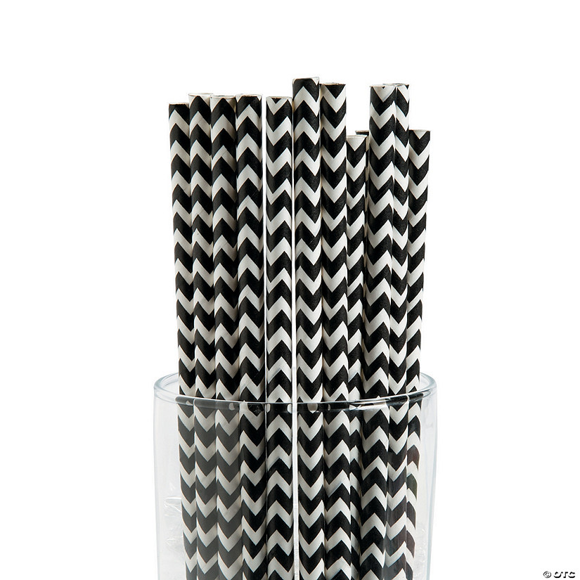 Black Chevron Paper Straws Audio Thumbnail