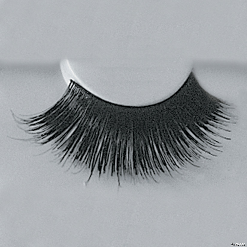 Black Eyelashes with Adhesive 199