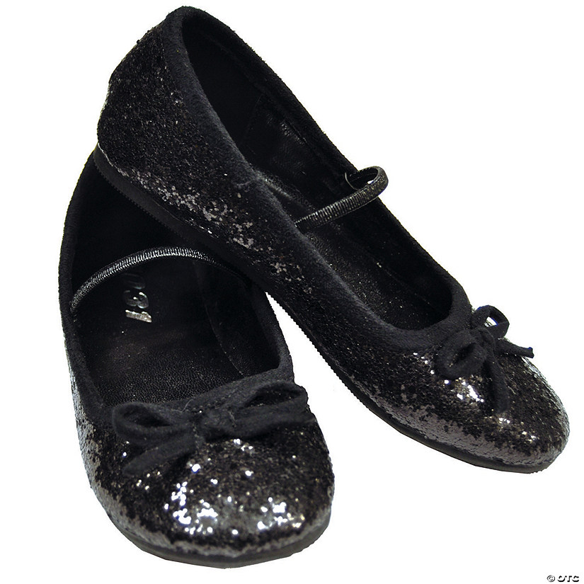 Black Glitter Ballet Shoes for Girls Audio Thumbnail