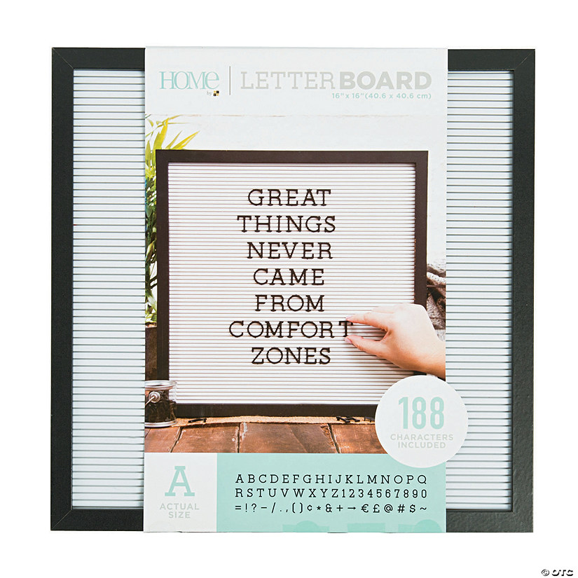 "Black Letter Board Kit - 16"" Audio Thumbnail"