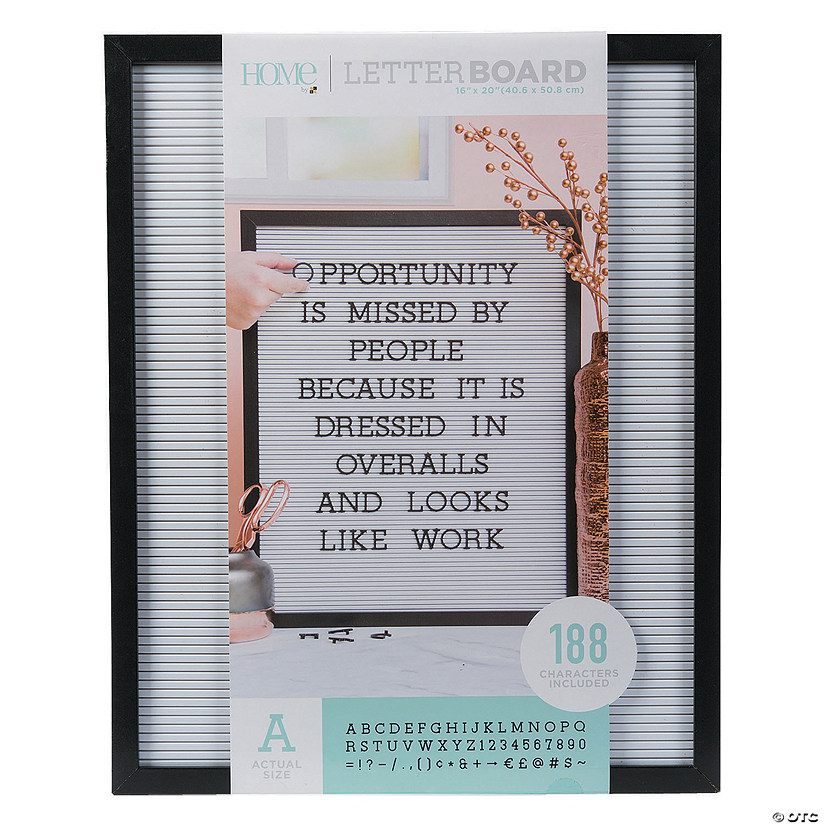 "Black Letter Board Kit - 20"" Audio Thumbnail"