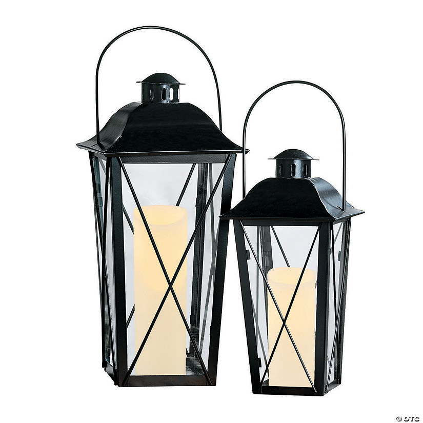 Black Metal Lanterns Image Thumbnail