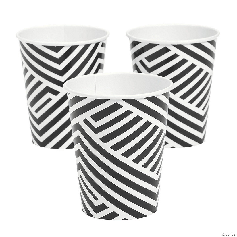 Black Overlapping Chevrons Paper Cups Audio Thumbnail