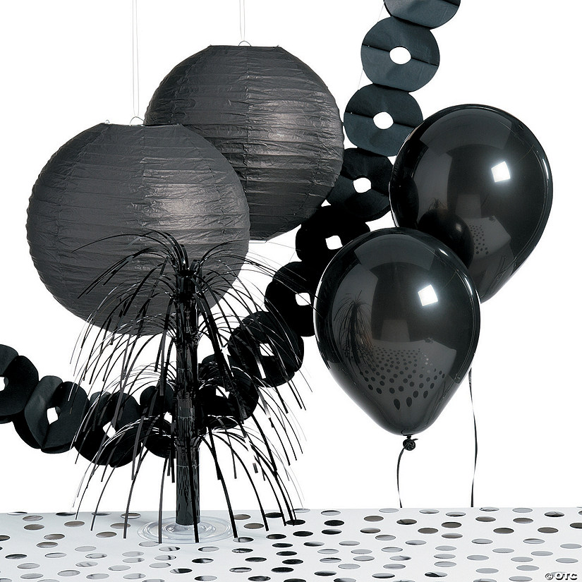 Black Party Decorating Kit