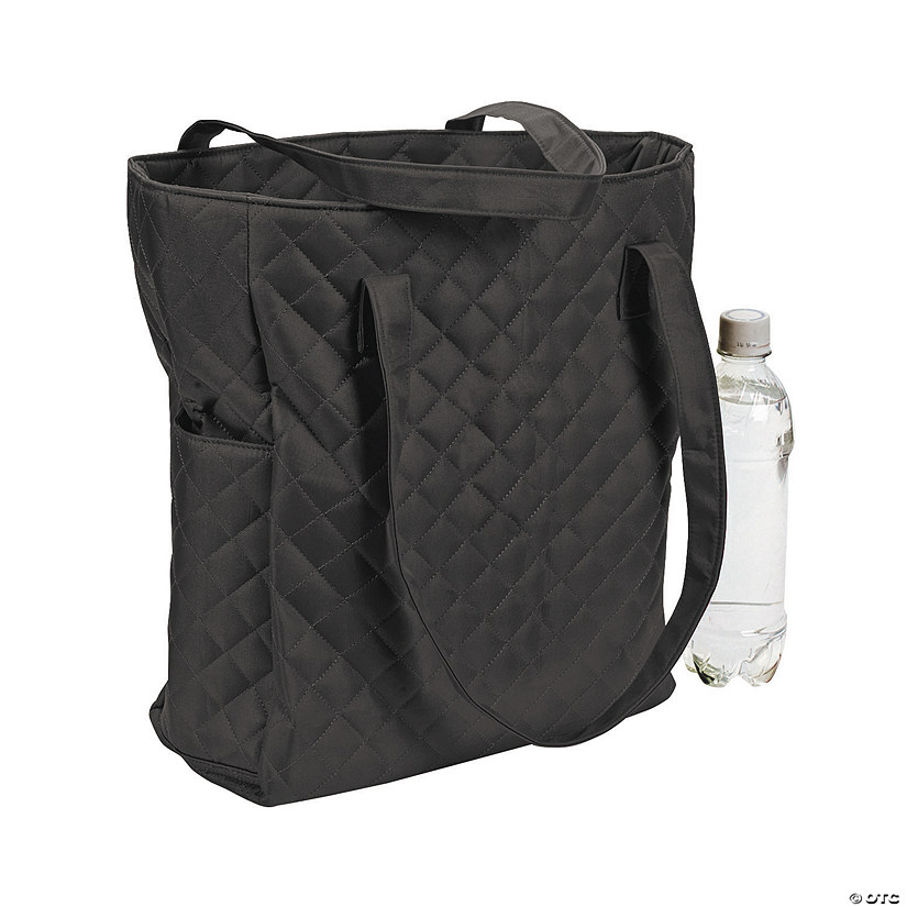 Black Quilted Tote Bag Audio Thumbnail