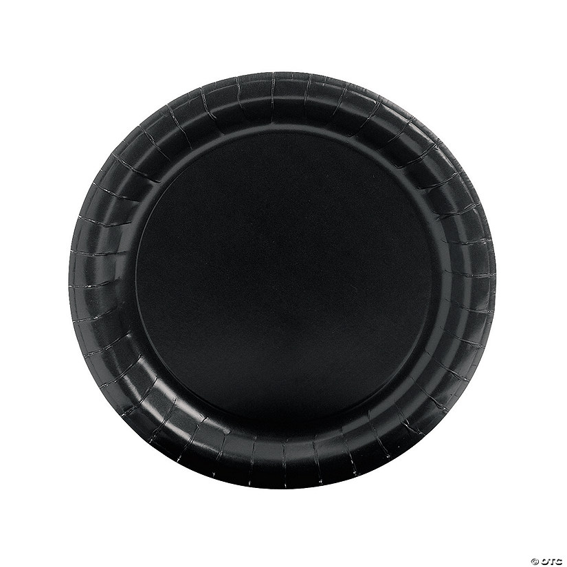 Black Round Paper Dinner Plates Audio Thumbnail