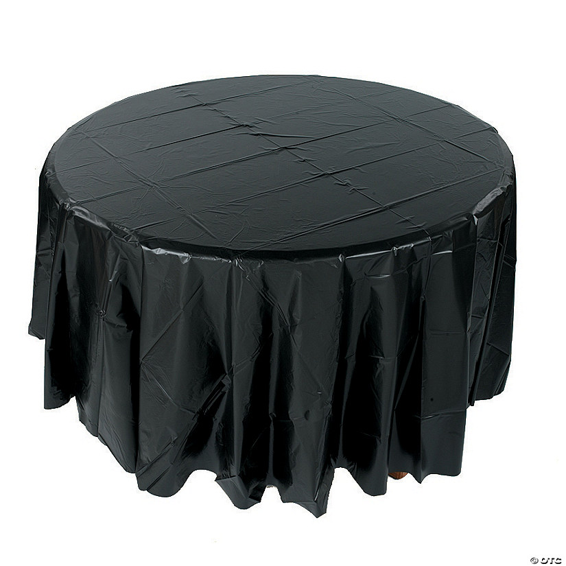 Black Round Plastic Tablecloth Audio Thumbnail