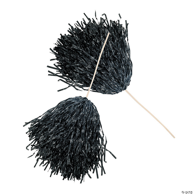Black Spirit Pom-Poms - 24 Pc. Audio Thumbnail