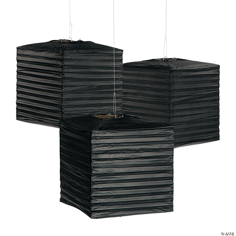 Black Square Hanging Paper Lanterns