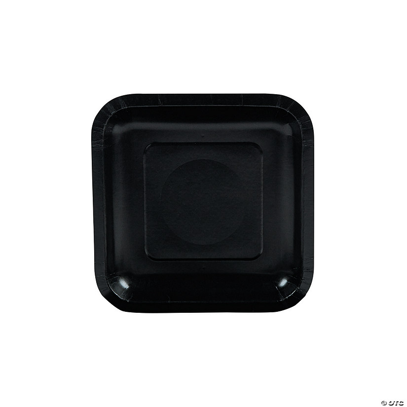 Black Square Paper Dessert Plates - 18 Ct. Audio Thumbnail