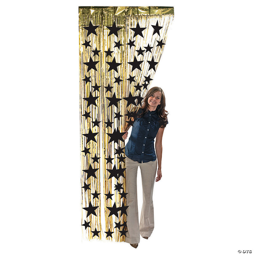 Black Star Gold Fringe Door Curtain Audio Thumbnail