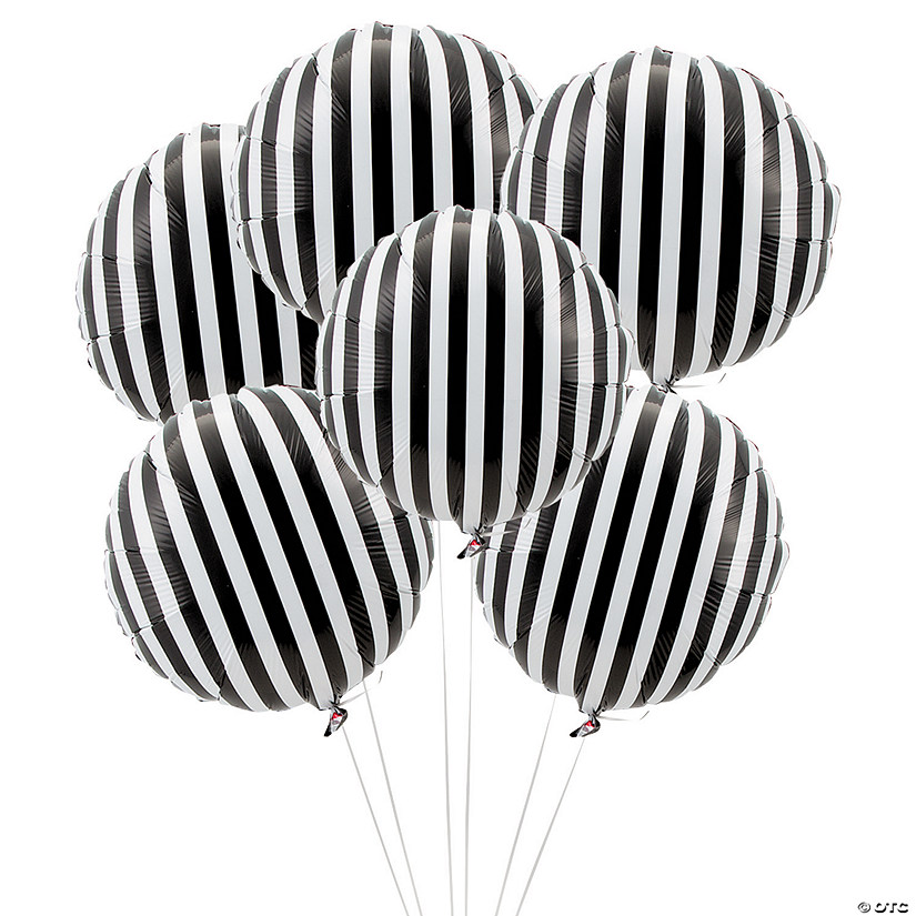 "Black Striped 18"" Mylar Balloons Audio Thumbnail"