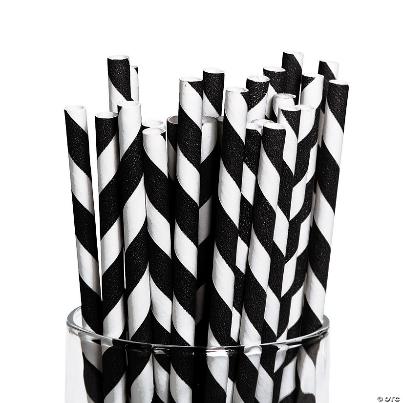 Black Striped Paper Straws Audio Thumbnail