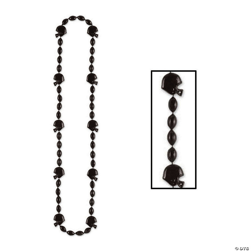 Black Team Spirit Football Beaded Necklaces Audio Thumbnail