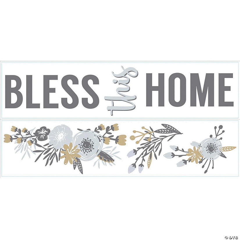 Bless This Home Floral Quote Peel & Stick Decals Audio Thumbnail