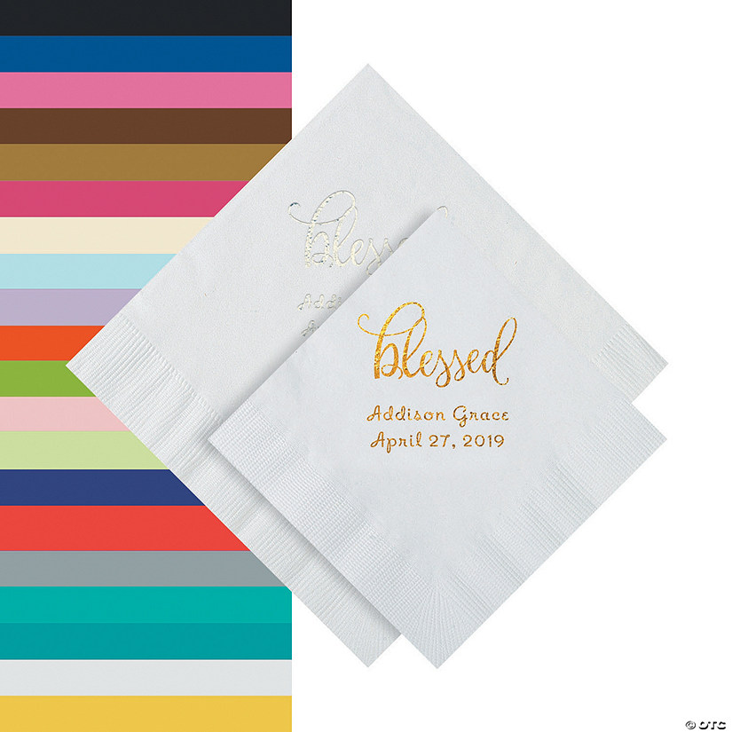 Blessed Personalized Beverage or Luncheon Napkins Audio Thumbnail