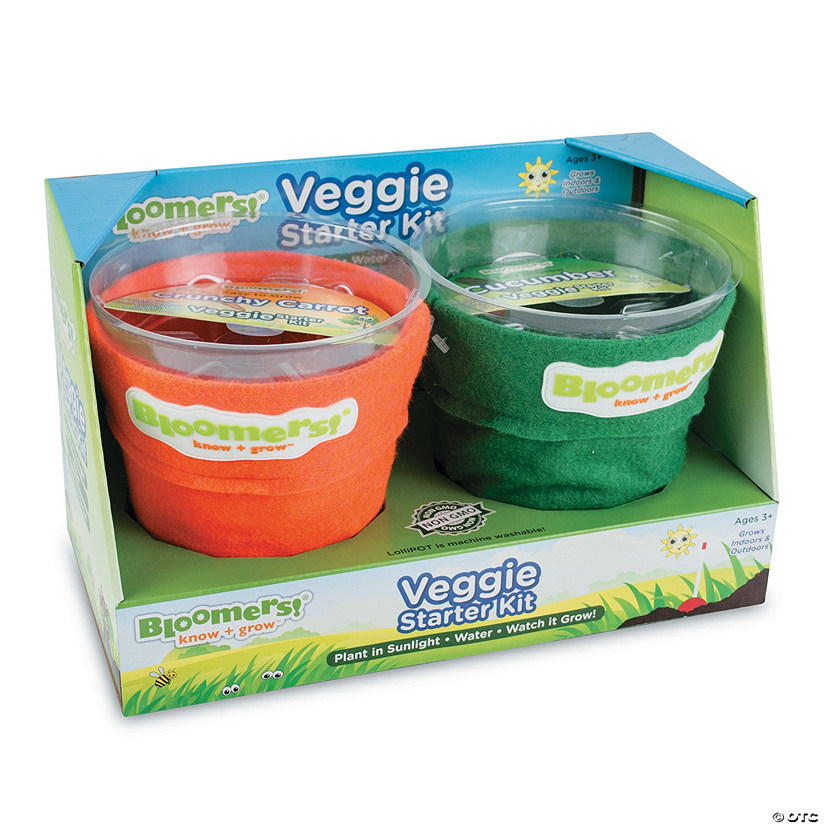 Bloomers! Veggie Growing Kit: Carrot & Cucumber