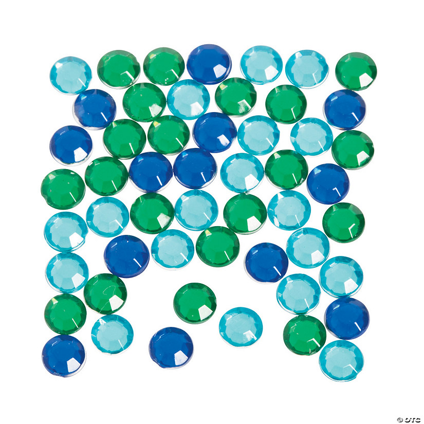 Blue & Green Faceted Round Gems Audio Thumbnail