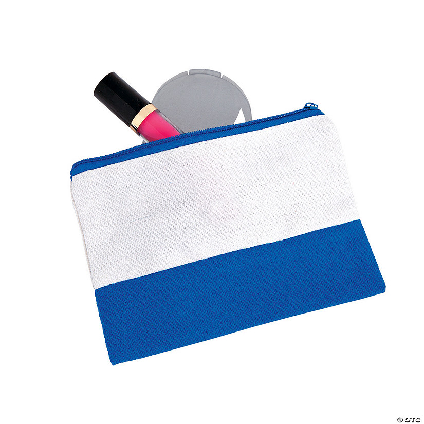 Blue & White Makeup Bag Audio Thumbnail