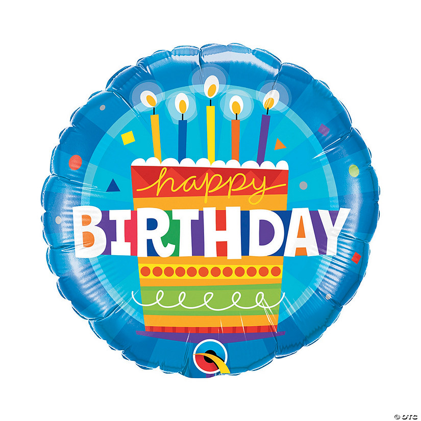 "Blue Birthday Cake 18"" Mylar Balloon Audio Thumbnail"
