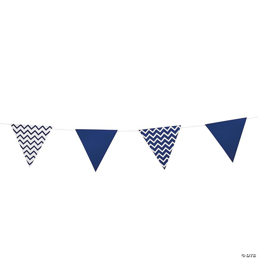 Blue Chevron Cardboard Pennant Banner | Oriental Trading